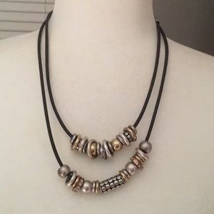 Chico's circle & shapes necklace